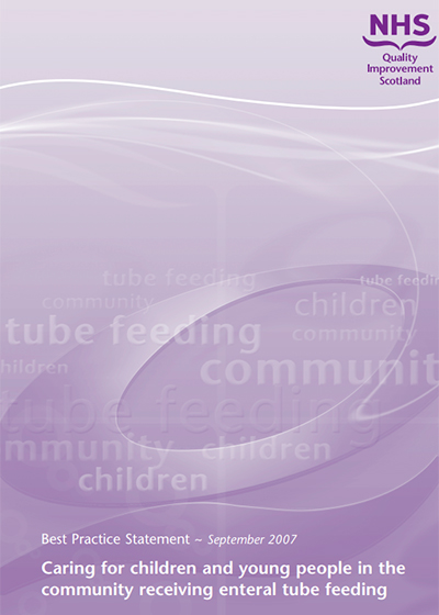 Caring for children and young people in the community receiving enteral tube feeding